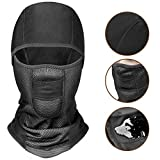 CAPUAY Balaclava, Ski Full Face Mask, Helmet Balaclava, Winter Thermal Windproof Waterproof Breathable Balaclava for Men/Women Outdoor Skiing, Snowboarding and Motorcycling Black