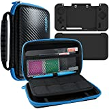 4 in 1 Kit Protettivo per Nintendo New 2DS XL, AFUNTA Custodia Rigida per Trasportare, Cover in Silicone, Stilo e 2 PET Proteggi Schermo per Schermo Superiore e Inferiore, per 2DS LL Accessori