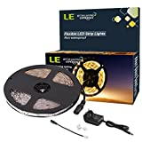 LE Flexible LED Strip Lights Kit,300 Units SMD 3528 LEDs Warm White,5m 12V DC Non-waterproof Light Strips, LED ribbon,Garden/Home/Kitchen/Car/Bar, DIY Party Decoration Lighting