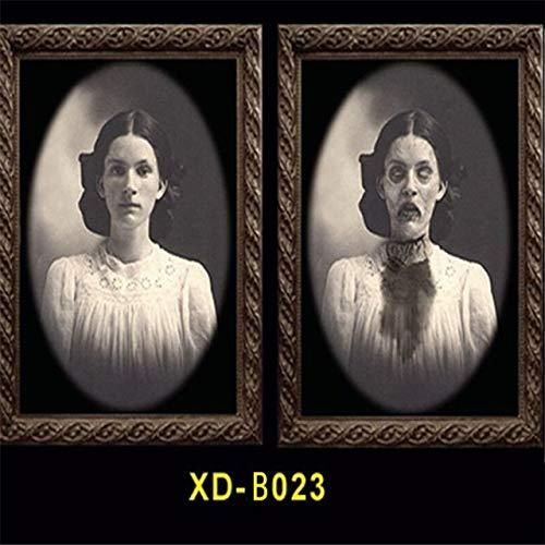WSCOLL 3D Gesichtswechsel Ghost Frame Horror Halloween Dekoration Requisiten Bilder Frames Gesichtswechsel Ghost Halloween Party Decor - Bilder Von Monster High Kostüm