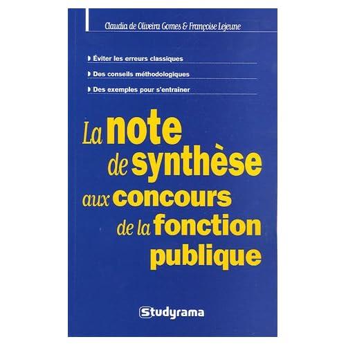 La note de synthèse aux concours de la fonction publique