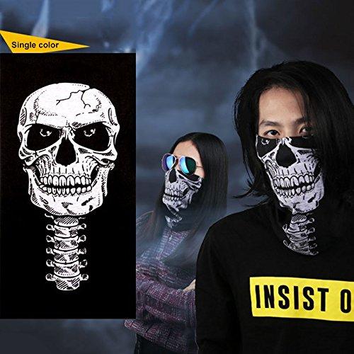 JWBOSS Schal Schal Bandana Kopftuch Gesichtsmaske Kopf Radfahren Neck Skelett Erwachsener Stirnband Warmer Bike Schal SC