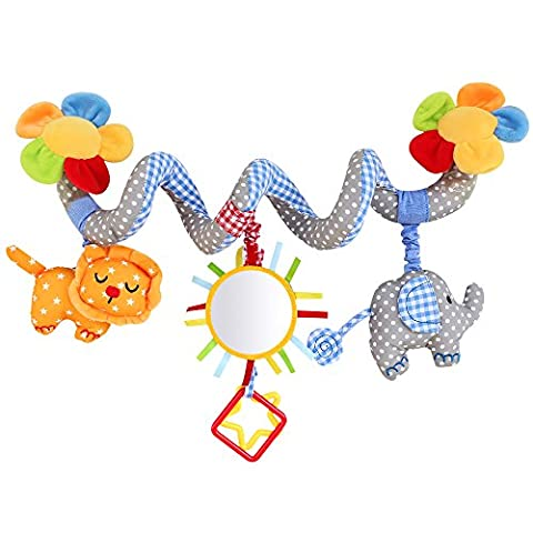 Hysagtek Baby Music Bed Hanging Elepahant Lion with Mirror Bell