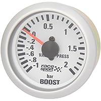 "Sumex Gaug701 - Manómetro Presión Turbo""Race Sport"", Diámetro 52 mm, 12V"