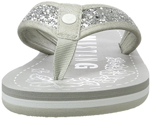Mustang 1243-702-21, Sandales Bout Ouvert Femme Argent (21 Silber)