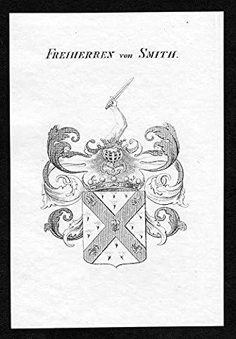 Freiherren von Smith - Smith Wappen Adel coat of arms Kupferstich antique print heraldry Heraldik