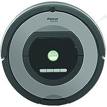 iRobot Roomba 772 - Robot aspirador, potente sistema de limpieza con sensores de suciedad Dirt Detect, aspira alfombras y suelos duros, atrapa el pelo de mascotas, programable, color plata