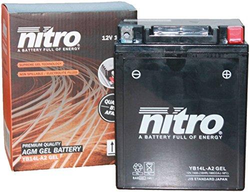 YB14L-A2Gel Nitro batteria moto YB14L-A2G