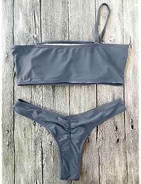 _ En traje de baño traje de baño de tela transfronteriza de pecho traje de baño moderno y cómodo bikini bikini...