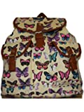 Girls Ladies Animal Owl Butterfly Print Canvas bag Rucksack Backpack School bag