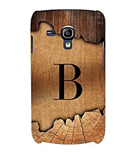 Initial B Wooden Alabhet 3D Hard Polycarbonate Designer Back Case Cover for Samsung Galaxy S3 Mini :: Samsung Galaxy S3 Mini i8190