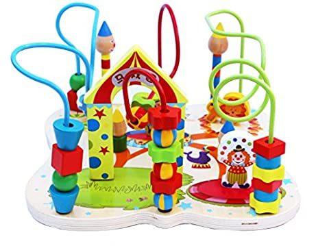 Toys of Wood Oxford Wooden Beads Maze Activity Centre