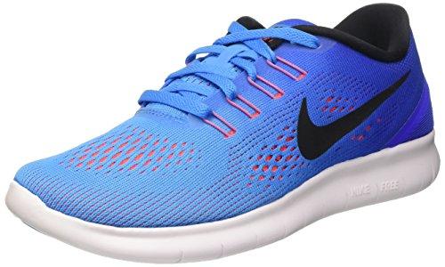 Nike Wmns Free Rn, Scarpe da Ginnastica Donna, Multicolore (Blue Glow/Black-Racer Blue), 40.5
