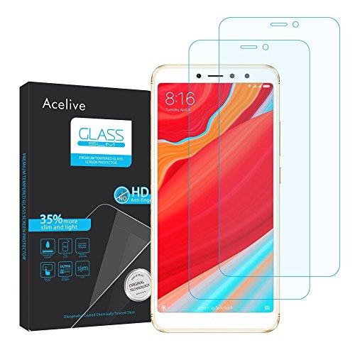 Acelive Xiaomi Redmi S2 Panzerglas, 2 Stücke Hartglas 9H Anti-Bläschen Gehärtetem Panzerfolie Schutzfolie Displayschutzfolie Folie für Xiaomi Redmi S2