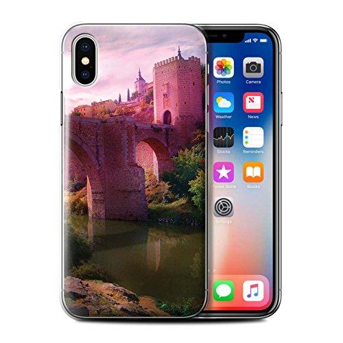 Offiziell Elena Dudina Hülle / Case für Apple iPhone X/10 / Ozean Trümmer Muster / Fantasie Landschaft Kollektion Schloss-Brücke