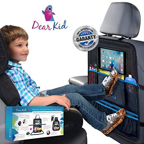 Auto & Kinderwagen Organizer, Rückenlehnenschutz, iPad & Tablet Halterung für Kinder, Kinderwagentasche - für perfekt aufgeräumte Utensilien und Spielsachen in Auto & Buggy - wasserdicht, 58 x 38 cm