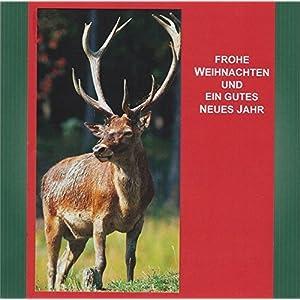 Jagdliche Weihnachten, Textkarte mit Motiv, von Handmadegruss edel und sinnlich für Sie hergestellt, im edlen jagdlichen grün gehaltenen Farbton