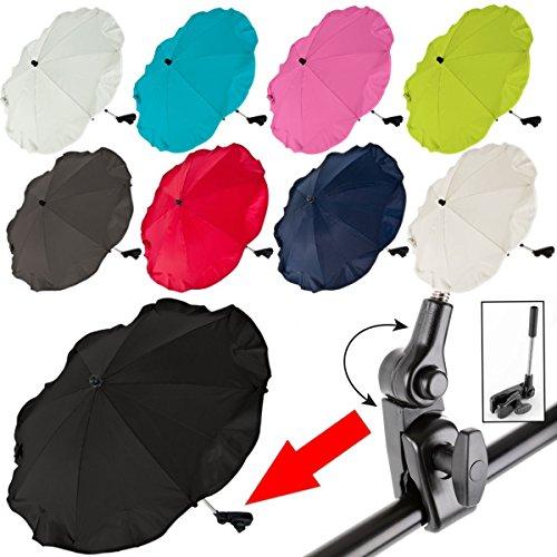 Baby Kind Sonnenschirm/Schirm für Kinderwagen/Buggy/Jogger UV SCHUTZ (50+) (Dunkelblau)