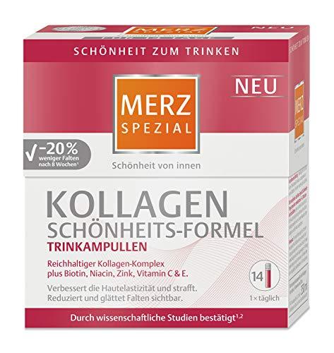 Merz Spezial Kollagen Schönheits-Formel Trinkampullen, Reichhaltiger Kollagen-Komplex mit Biotin, Niacin, Zink, Vitamin C und E, 14 x 25 ml -