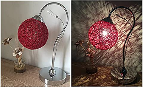 XHOPOS HOME Table Lamp Desk Lamp Bedside Lamp Marriage Gifts Bedroom Lighting Modern Minimalist Creative Gifts Sepaktakraw Lamps Red Button Switch