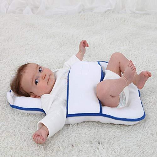 -Bett-Matratze Baby-Kissen Für Neugeborene Baby Und Kleinkind Flat Head-Syndrom Prävention Anti-Roll Einstellbare Größe Krippe Matratze Tragbare Reisematte Bett ()