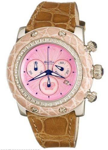 Glam Rock WATCH GR10126D - Reloj de mujer de cuarzo, correa de piel color marrón