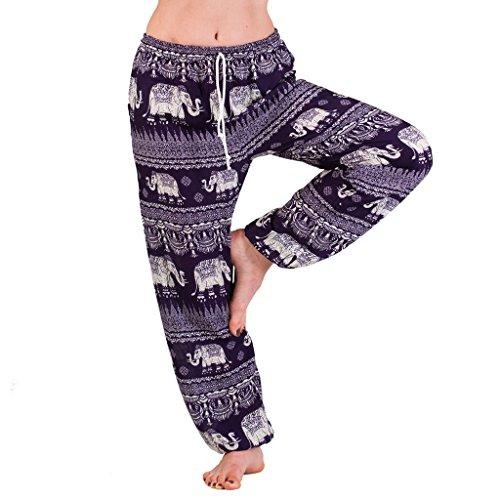 Panasiam Aladdin - Pantalones de verano de viscosa fina natural, apto de...