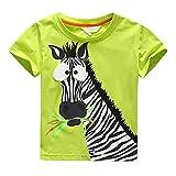 Search : Kolylong Summer Kids Baby Boys Funny Cartoon Zebra Printing T-Shirt Top Blouse