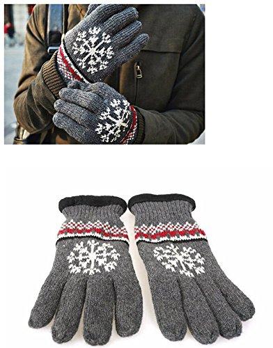 Gants en laine pour Homme et Femme Gris Foncé