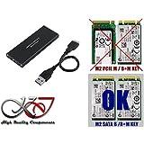 KALEA-INFORMATIQUE © - Boitier M2 vers USB3 (USB 3.0 SUPERSPEED) - Supporte les 4 formats : 2230 / 2242 / 2260 / 2280 - Pour SSD M.2 NGFF de type SATA B Key