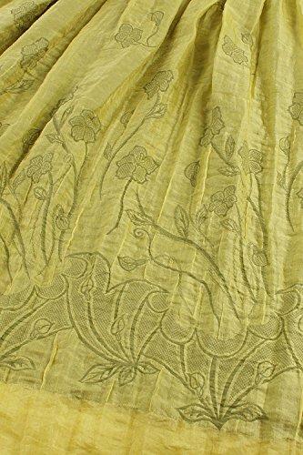 Babyonlinedress Femme Sexy Robe Elastique d'été de Plage National Style Bohême Bustier avec l'Impression Fleur en Polyester-Deux types d'usure Or