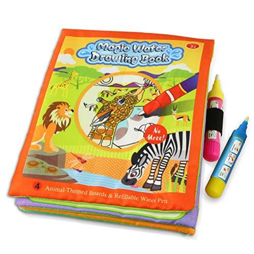 AimdonR Magic Water Drawing Book Coloring Book Doodle Magic Pen Painting Gift per Bambini Yellow