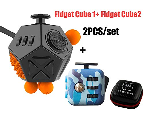 High-Quality Fashion Fidget Cube 2 Anxiety Stress Relief Focus 12 sides with Fidget Cube 1 2PCS/SETS (Group 7) - 2