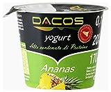 Yogurt proteico Dacos Ananas - 32 vasetti 200 gr - cremoso magro - Spedizione 24 ore