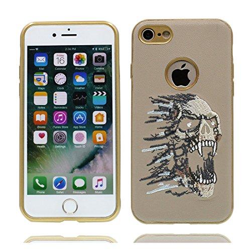 iPhone 6s Custodia, Gomma morbida flessibile TPU Case iPhone 6S/6 copertura 4.7 Cover protettivo antiurto completo + Gel Soft - Cartoon Cranio vampiro elegante albicocca 2