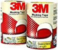3M IA120180145 General Purpose Masking Tape, 18 mm x 20 m (8 Rolls/Pack)