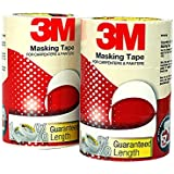 3M IA120180137 General Purpose Masking Tape, 24 mm x 20 m (6 Rolls/Pack)