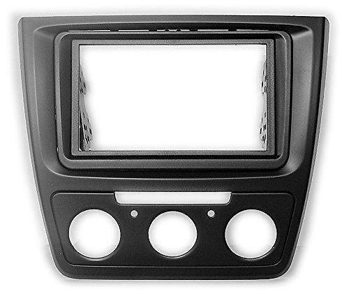 carav 11-584 Doppel DIN Autoradio Radioblende DVD Dash Installation Kit für Skoda Yeti 2009 + (Manuelle Klimaanlage) Faszie mit 173 * 98 mm und 178 * 102 mm Stereo Dash Mount