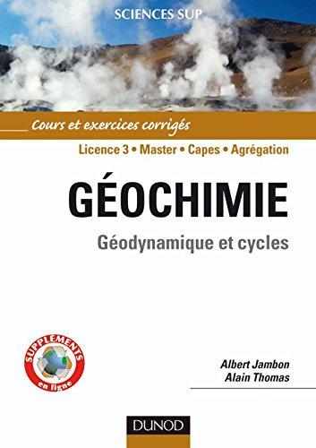 Géochimie : Géodynamique et cycles