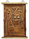 SouvNear 24.38 cm, von Hand geschnitzt aus Holz, Eule mit Kulleraugen, Design Schlüsselbrett-Rack Deko-Schlüssel Halter-Kasten -Home Zubehör