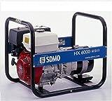 SDMO HX6000C Grupo Electrógeno Monofásico Profesional, Gama Intens, Motor Honda, 6000 W