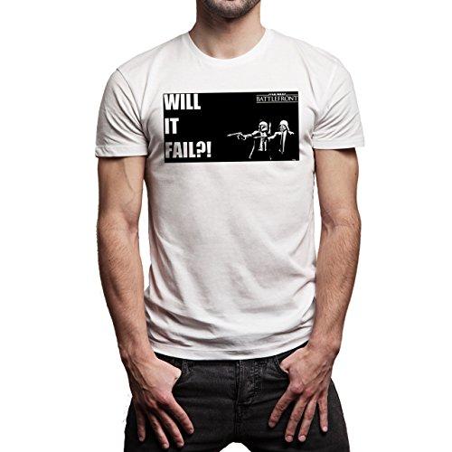 Star Wars Battlefront Jedai Yedi Game Will It Fail Background Herren T-Shirt Weiß