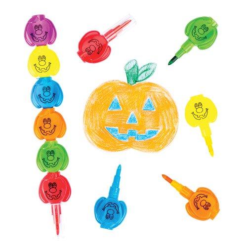 Baker Ross Wachsmalkreiden Kürbis Zum Zusammenstecken als lustiges Spielzeug für Kinder Zum Günstigen Preis – Perfekt als Kleine Party-Überraschung für Kinder zu Halloween (4 Stück)