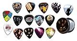Queen 15 X Guitar Médiators Picks with Tin ( Gold Range Plectrums )