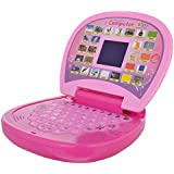 Techhark Learning Laptop Toys 20 Activities, Spy Yellow And Pink Laptop For Kids (pink)