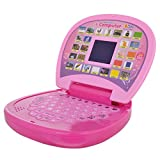 #8: Techhark Learning Laptop Toys 20 Activities, Spy Yellow and Pink Laptop For Kids (pink)