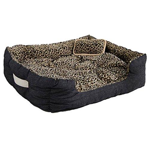 Eyepower 12686 Tierbett Gepard ca. 70x58x18cm mit Innenkissen + Schmusekissen + Pipi-Schutz-Unterlage