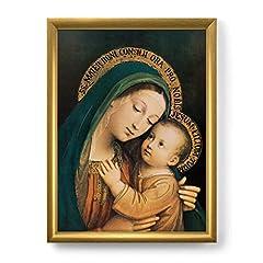 Idea Regalo - LibreriadelSanto.it Quadro Madonna del Buon Consiglio con Lamina Oro e Cornice Dorata