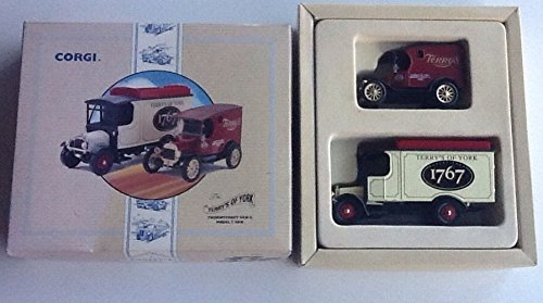 Corgi Diecast 97753 - Thornycroft Van & Model T Van Set - Terry's Of York