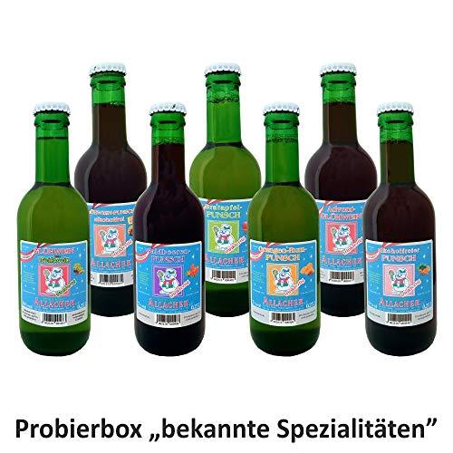 """Allacher Glühwein-/Punsch-Probierbox \""""bekannte Spezialitäten\"""", 7 Flaschen je 0,25 l"""